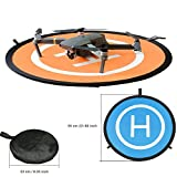 Kingwon Drone Landing Pad Faltbares 21.65 inch (55cm) Zusammenklappbare Helikopter Helipad für DJI Mavic Pro, DJI Mavic Air, DJI Spark, DJI TELLO, GoPro Karma, Xiaomi Mi, Yuneec Breeze Dronepad Zubehör