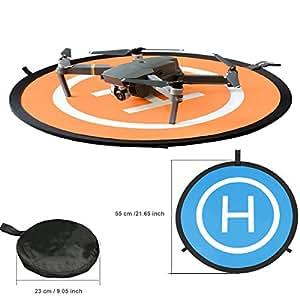 Kingwon Fast Fold Drone Landing Pad for DJI MAVIC PRO/MAVIC 2 PRO MAVIC 2 ZOOM Drone,Diameter of 21.65 inch (55cm) Foldable Waterproof Landing Mat Helicopter Helipad for DJI Mavic Air,DJI Spark,DJI Tello
