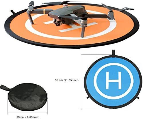 Kingwon 55cm Drone Landing Pad Pad Pad Déplier Diamètre 21.65 pouces Héliport Pliable Hélicoptère piste d'atterrissage pour DJI Mavic Pro, DJI Mavic Air, DJI Spark, DJI TELLO, GoPro Karma, Xiaomi Mi accessoires | La Réputation D abc141