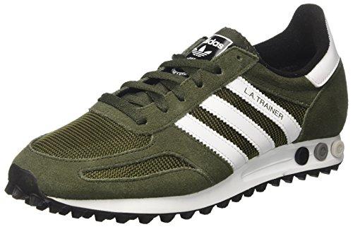 adidas Unisex-Erwachsene LA Trainer Men Sneakers, Grün (Nigh/Whi), 45 1/3 EU (Adidas Leder-trainer)