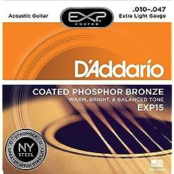 Set de cuerdas - D'Addario EXP15 - Guitarra Acústica