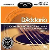 D'Addario EXP15 - Juego de cuerdas para guitarra acústica de fósforo/bronce, .010 - .047