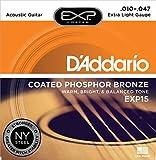 D'Addario EXP15 - Juego de Cuerdas para Guitarra Ac�stica de F�sforo/Bronce.010 - .047, Naranja