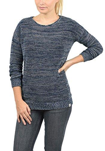 DESIRES Lea - Pull en Maille- Femme Insignia Blue Melange (8991)