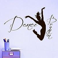 Wall Decals Ballerina Acrobatics Girl Ballet Dancer Gymnastics Sport Jump Bedroom Dance Studio Gift Kids Children Dorm Vinyl Sticker Wall Decor Murals Personalized Name Baby Nursery