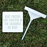 """Pet RAM, pietre, lapide commemorativa """"Best Friends Live Forever in the Memories We Keep"""", Small"""
