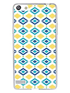 Oppo A33 Back Cover - Geomatrical Summer Pattern - Designer Printed Hard Shell Transparent Sides