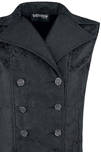 Gothicana by EMP Ladies Baroque Vest Girl-Weste schwarz Schwarz