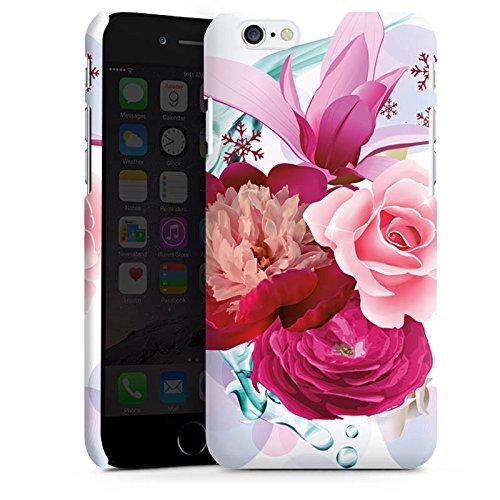 Apple iPhone X Silikon Hülle Case Schutzhülle Blumen Blüten bluete Premium Case matt