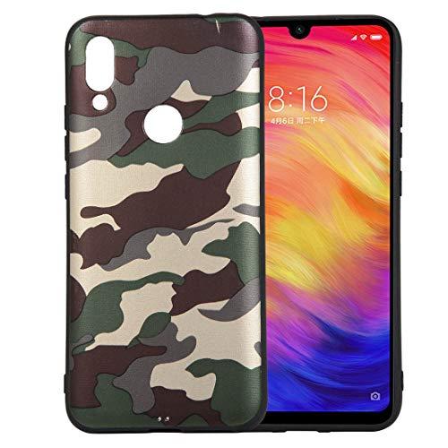 bel mit Xiaomi Redmi 7, Wasserdicht Stoßfest Outdoor Handy Case [Tarnung Design] Camouflage-Handyhülle Silikon Handyhülle TPU Bumper Cover Schutzhülle - Grün ()
