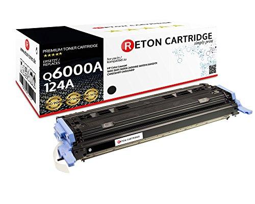 Original Reton Toner, kompatibel, Schwarz für HP CM1015 (Q6000A), HP 124A, 1600, 2600, 2600N, 2600DN, 2605, 2605DN, 2605DTN, CM1015, CM1015MFP, CM1017, CM1017MFP, Schwarz -