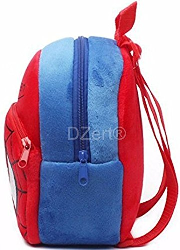 DZert Soft Plush Fabric Multicolour Spiderman Printed School Bag for Baby Boys and Girls Image 3