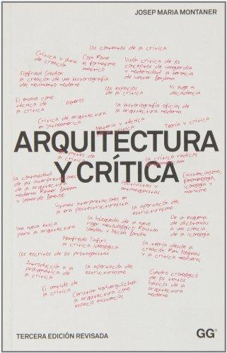 Arquitectura y crítica por Josep Maria Montaner
