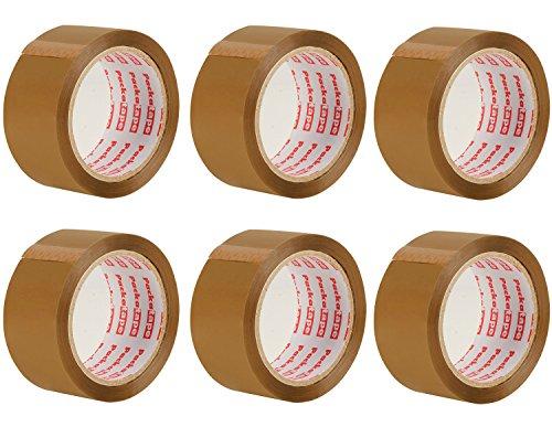 Packatape 6 Rollen 48MM x30M Braun Verpackungsband für Pakete und Boxen