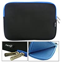 Emartbuy® HP Pavilion x2 Detachable Laptop 10.1 Inch Black/Blue Water Resistant Neoprene Soft Zip Case Cover Sleeve With Blue Interior & Zip (10-11 Inch eReader/Tablet/Netbook)