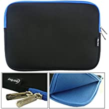 Emartbuy® Acer Aspire Switch 10E SW3-013-17Z6 Tablet PC Negro / Azul Funda Case Cover Sleeve Impermeable con Cremallera de Neopreno Suave Azul Interior & Zip ( 10-11 Inch eReader / Tablet / Netbook )