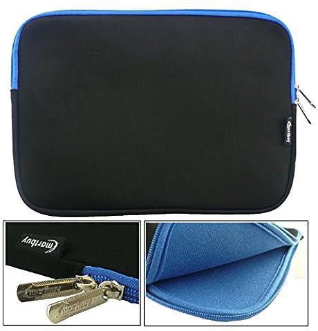 Emartbuy® Schwarz / Blau Wasserdicht Neopren weicher Reißverschluss Kasten Hülsen Abdeckungs Mit Blau Interior & Zip geeignet für Gigaset S30853-H1168-R102 QV 1030 10.1
