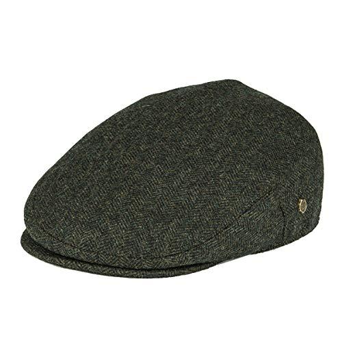 afde2e1488cdf VOBOOM Men s Herringbone Flat Ivy Newsboy Hat Wool Blend Gatsby Cabbie Cap  (Army Green