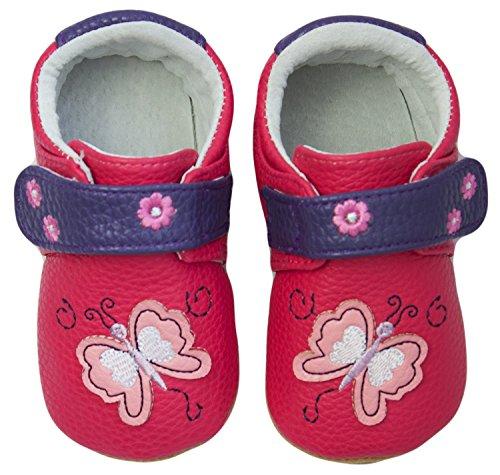 Rose & Chocolat RCM Butterfly Baby Mädchen Krabbelschuhe & Puschen Sneaker Pink (Fuchsia)