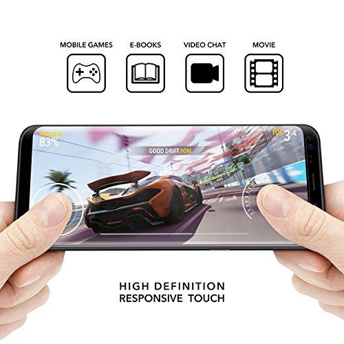 36d693fce12 YOSH Protector de Pantalla para Samsung Galaxy S8, 5.6'' Cristal Vidrio  Templado, Alta Sensibilidad Adaptarse Mayoría ...