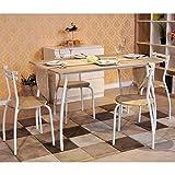 Innovareds - Set da pranzo con tavolo e 4 sedie, Set da cucina in faggio