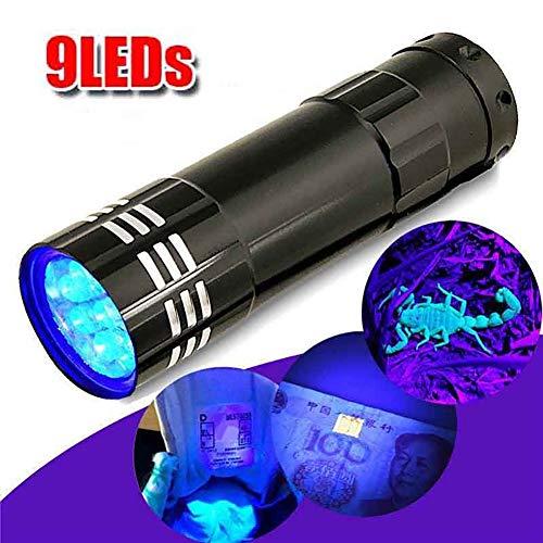 Lampe torche LED P12cheng - Mini lampe torche multifonction en aluminium UV ultra violet 9 LED