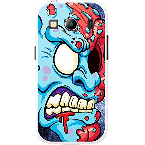 Scary zombie Walking Living Dead cover/custodia rigida per cellulari Samsung, PLASTICA, Blue One Eyed Zombie, Samsung Galaxy Ace 4