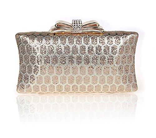 Fiocco strass fibbia borsa/ borsa da sera moda/Party clutch bag-B B