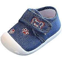 SOMESUN Sandali Scarpine Neonato Prima Infanzia Bambino Ragazzo Ragazze  Sneaker Antiscivolo in Tela di Cotone per f26eaee19c6