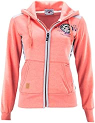 GEOGRAPHICAL NORWAY GIRLY LADY CORAL Sudadera con capucha Girly - coral