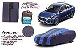 #5: Auto Pearl Tripple Stitched Premium Navy Sky Blue Matty Car Body Cover With Mirror Pockets , Buckle Belt & Carry Bag For - Maruti Suzuki Swift Dzire 2017