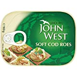 John West Soft Cod Roes 100 g (Pack of 6)