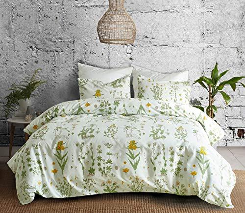 Bettwäsche Set 2 teilig Mikrofaser Kinder Frauen Bettbezug 155x200 Blumen 1 Bettbezug mit 1xKopfkissenbezug