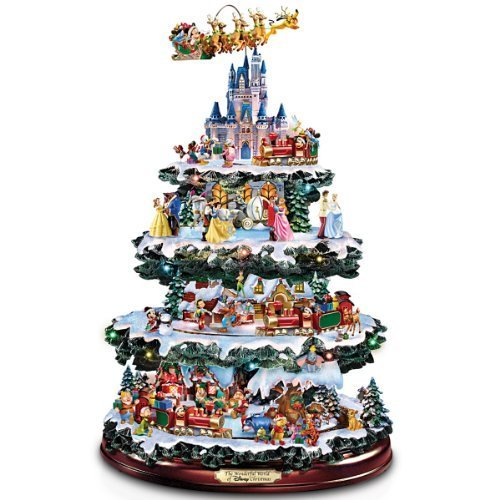 Disney Tabletop Christmas Tree: The Wonderful World Of Disney by The Bradford Exchange by The Bradford Exchange