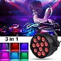 LED Stage Light, Disco Par Lights DJ Spotlight Projector 18W Auto / DMX512/Voice Activated, RGB Romantic Effect for birthday party,Karaoke,Bar,Pub,Stage,Wedding,Christmas,New Year Celebration