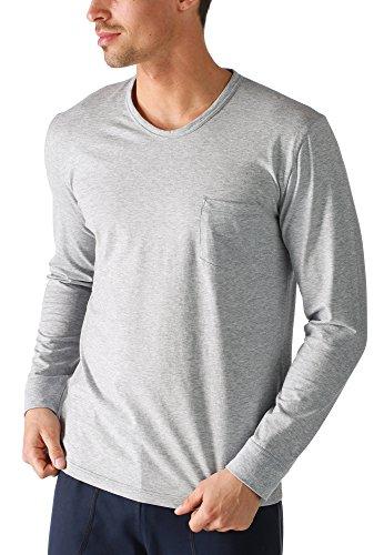 "Mey Loungewear ""Mey Club Coll."" Herren Homewear Shirts 61540 Light Grey Melange"