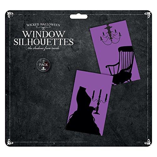2?St?ck Halloween Fenster Silhouetten Dekorationen???Farbe Design zuf?llig