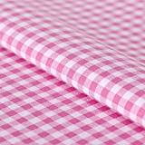 Hans-Textil-Shop Stoff Meterware Vichy Karo 5x5 mm Rosa Baumwolle