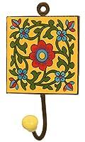 Souvnear Ganci di ferro in ceramica fatti a mano - Porta ombrello Porta asciugamano portachiavi Cintura Gancio - Decorazione a parete