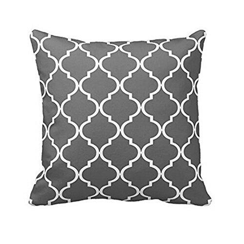 Federa geometrica 45x45cm ronamick per in geometrica cuscino divano,decorazione di auto letto divano per cuscini cuscino (grigio, 45cmx45cm)