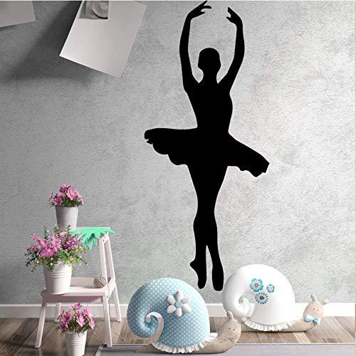 zqyjhkou Schönheit Tänzerinnen PVC Wandtattoos Wohnkultur Für Mädchen Zimmer Wandaufkleber Ballett wasserdichte Tapete L 30 cm X 69 cm (Halloween Barbie Kuchen)