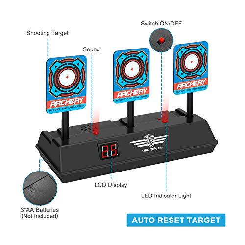 Keten Objetivo Digital Electrónico para Pistolas Nerf con Restablecimiento Automático, Efectos Inteligentes de Sonido y Luz, para Nerf N- Strike Elite/Mega/Rival Series (Solo Objetivo)