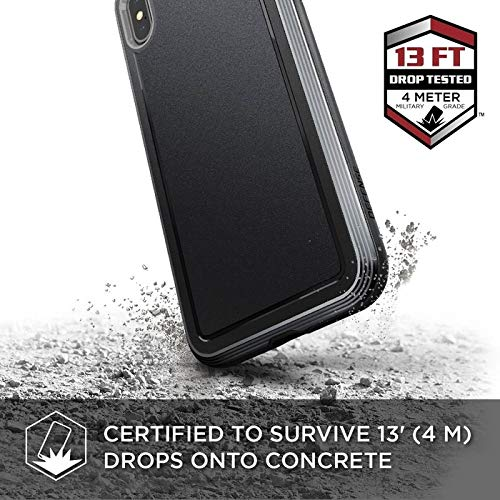 X-Doria 473156 Defense Ultra - Aluminium Hülle für Apple iPhone XS Max (Drop Test 4m) Schwarz