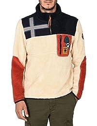 Napapijri Herren Half-Zip Yupik sweatshirt Merino