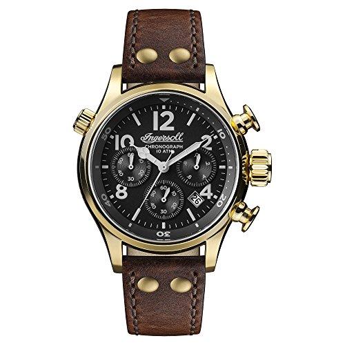 Ingersoll Herren Chronograph Quarz Uhr mit Leder Armband I02003