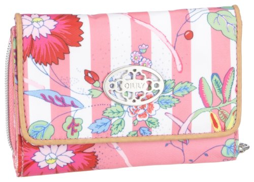 Oilily S Wallet OCB1125-2904, Damen, Portemonnaies, Rosa (Rosa / White), 14 x 2.5 x 10 cm (B x H x T)
