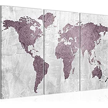 Bilder Weltkarte World map Wandbild 150 x 60 cm Vlies