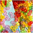 GoldenTM-NEW Amazing Loom Bands Pack of 125 Colorful S-Clips BZ0018