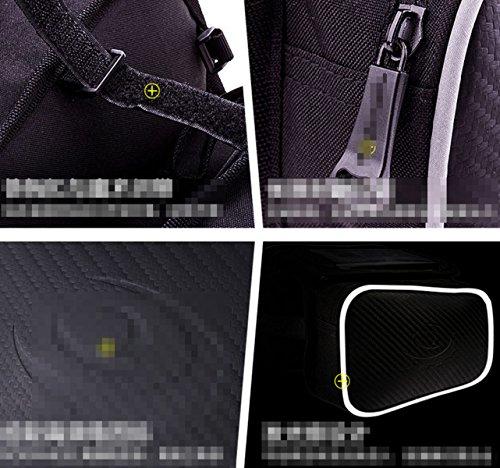 OGTOPMountain Radtasche Reit Textur Kohlefaser Stitch Satteltasche Touchscreen-Handytasche 6