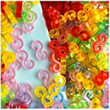 Incredibile Bands Loom Confezione da 125 Colorful S-Clips BZ0018 [Toy]